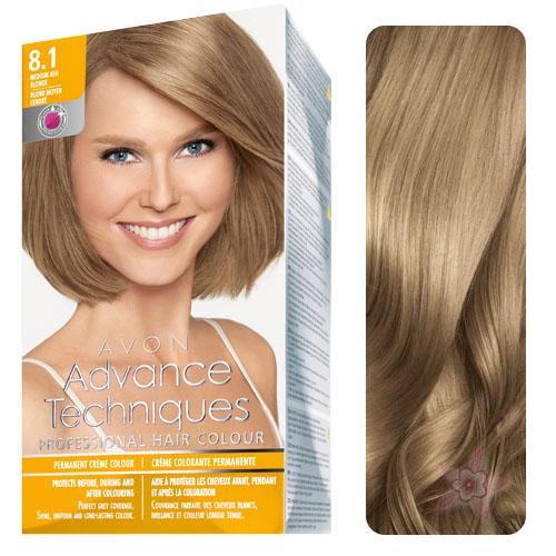 AVON Advance Techniques Saç Boyası 8.1 Koyu Küllü Sarı